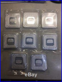 GEIGER Edelmetalle 500g Fine rare Silver FEINSILBER Square Bars series. 999