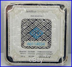 Geiger 250 Gram Square. 999 Silver Bar Sealed