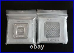Geiger Edelmetalle 100 Gram. 999 Fine Silver Square Bar(s) Encapsulated with Assay
