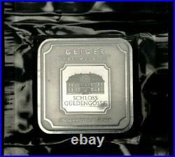 Geiger Edelmetalle Original Square Series Sealed 250 Gram Silver Bar #AV505338