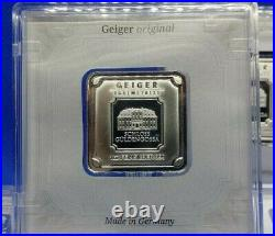 Geiger Original Encapsulated Silver Square Combo 50g, 1 oz, 10g and 5g