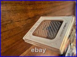 Geiger Original square 999 Fine Silver bar, weight 100 grams