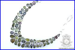 Genuine Fine Graded Afghan Chrome Tourmaline 925 Solid Silver Necklace