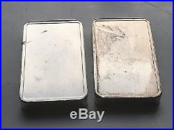 German Vintage Heraeus 100g X 2.999 Solid Silver Bars