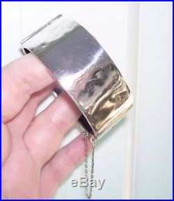 Gorgeous ANTIQUE Victorian 1882 Solid Sterling Silver Belt Buckle Bangle 37G