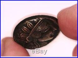 Greece Greek Attica Athens Solid Silver Tetradrachm Owl Athena Coin Graduation