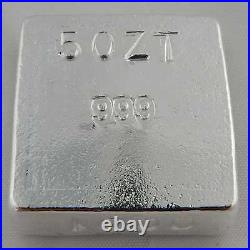 Hand Poured 5 oz Silver Bar Logo Square ShinyBars