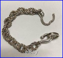 Hermes Old And Rare Bracelet Solid Silver 925 Very Good Condition Collector Item