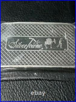 High Grade 999 Fine Silver Bullion, 5 oz Silver Bar, Solid Silver Prospector Bar