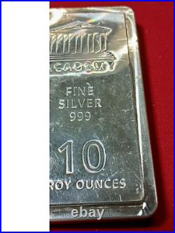 High Grade Silver Bullion, 10 oz Silver Bar, Solid Silver Bar- SILVER DOLLAR REP