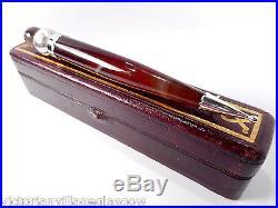 Huge Antique Solid Silver Scottish Agate Topaz Kilt Pin Boxed