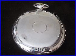 IWC Schaffhausen Solid Silver 800 15 Jewels Swiss Antique Open Face Pocket Watch