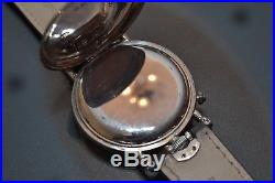 IWC military pilot's watch antique men's solid silver