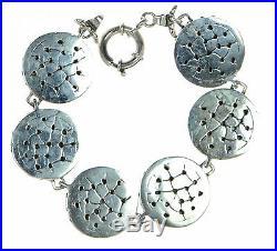 Indian Head Buffalo Nickel Set in Solid 925 Sterling Silver Bracelet 8-1/4 L