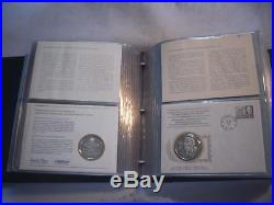 International society of postmasters 36 f/d covers + 36 solid 925 silver medals