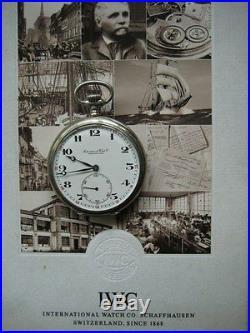 Iwc Shaffhausen-solid Silver Half Hunter Antique Pocket Watch Swiss Top Conditio