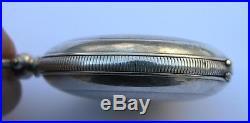 J. Dent London/tunel Solid Silver Key Wind Pocket Watch Ottoman Empire/turkey