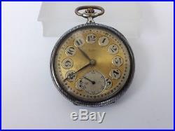 LIP Pocket Watch Open face Solid Silver