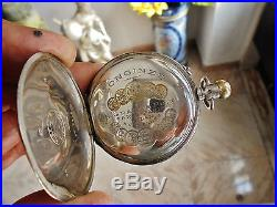 LONGINES genuinelly vintage Swiss pocket watch (solid silver)