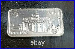 Landmarks Of The World Solid. 999 Pure Silver Half Dollar Coin- Bars Full Set