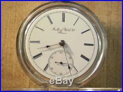 Large 1876 18s Rockford Solid Silver Keywind Pocket Watch Runs Good! 4oz case