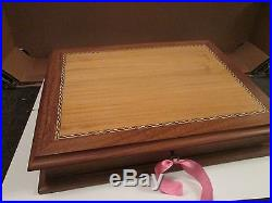 Limited Edition Solid Silver'Stamps of Royalty' 1977 with Wooden Case