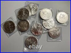 Lot 10 x 1oz Silver American Eagle Dollar. 999 Coins 1 oz Solid Silver