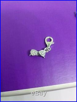 Lot of (8) Solid 925 Sterling Silver Swavorski Crystal RCI Designer Charms
