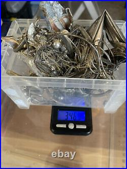 Lot of Solid Sterling Silver- 346.5 Grams no stones (All scrap)