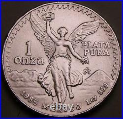 MEXICO 10 x 1oz Silver 1985 Libertads (Onzas). Total of 10 oz SOLID. 999 SILVER
