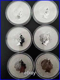 Marvel Avengers X8 1oz. 9999 Solid Silver Tuvalu Dollars