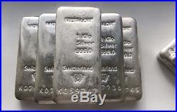 Metalor 1 Kilo Solid Silver. 999 Bar 5