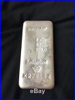 Metalor 1 Kilo Solid Silver Bullion Bar Switzerland Cheapest On eBay Fast Post