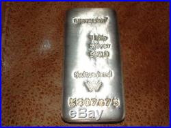 Metalor Silver 1KG 1 Kilo Bar Bullion in Solid Wood Box One and Certificate