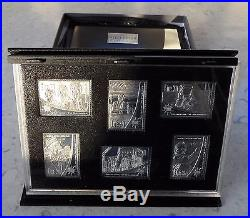 Millennium Stamps Collection 2000 Solid Sterling Silver Proof from Hibernia Mint