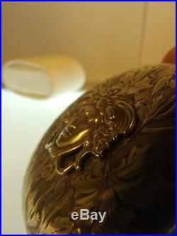 Modernista Art Nouveau Medusa Perseo Zenith Pocket Watch Solid Silver 1900