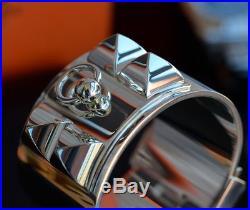 New HERMES CDC Collier de Chien solid 925 SILVER BRACELET sterling