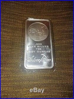 Nice 10 oz. 999 Solid Silver SilverTowne Prospector & Mule Bullion Bar Sealed