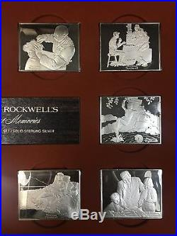 Norman Rockwell's Fondest Memories First Edition Proof Set/Solid Sterling Silver