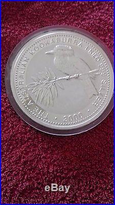ONE KILO of 0.999 Solid Silver Coin, Perth Mint 2000 Australian KOOKABURRA