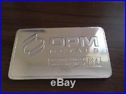 OPM Metals 10oz Rare Solid Silver Bullion Bar. 999 Fine Silver