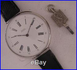 Original Serviced RUELLE a TROYES 1860 French Solid SILVER Wrist Watch Perfect
