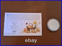 Peter Rabbit & Easter Egg Solid Sterling Silver medal 222 out of 995 Issued