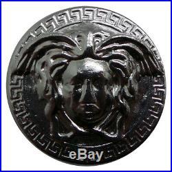 Poured Medusa Fine Silver Solid Round British Hallmarked in Case Greek Mythology