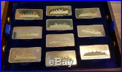 RARE 20 SOLID SILVER INGOTS GREAT LINERS BIRMINGHAM MINT TREASURE CHEST 3000 on