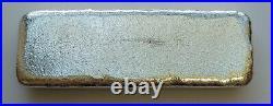 RARE Monarch Precious Metals 10 Troy Ounces 999 Pure Solid Silver Old Pour Bar