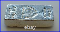 RARE Monarch Precious Metals 5 Troy Ounces 999 Pure Solid Silver Old Pour Bar