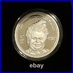 RARE The CHIVE Chris Farley ARTIST PROOF Solid Silver 1 OZ COIN SOLD OUT 69/200
