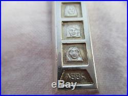 RARE Vintage ABBA Solid Silver Ingot Pendant 1oz Pop Memorabilia
