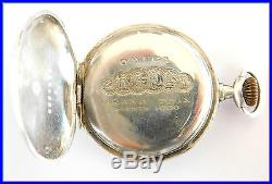 RED CROSS Vintage Ladies OMEGA SOLID SILVER Pocket Watch 35mm 1914's